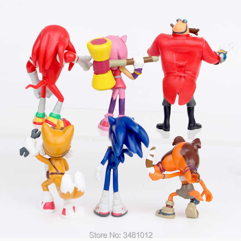 ソニック世界冒険金属ソニック werehog 尾 pvc アクションフィギュア影ナックル × アニメ置物人形子供のおもちゃセット