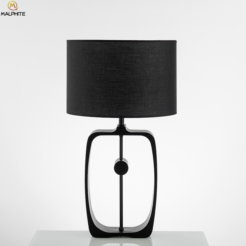 American Black Iron Industrial Table Lamp Nordic Bedroom Lamps Table Modern Hollow Table Light Home Deco Bedside Lamp Luminaria|LED Table Lamps| |  - title=