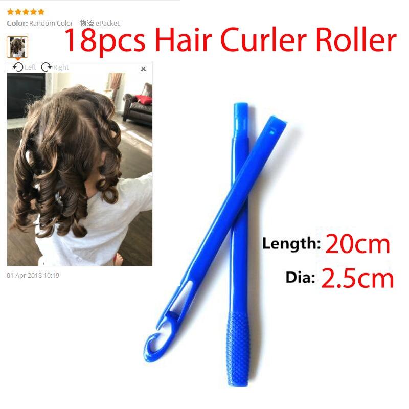 18pcs/set 55cm long diameter 2.5cm easy use Magic hair curler magic hair roller spiral curls roller magic roller magic curler ночная сорочка и стринги soft line tanya белые xl