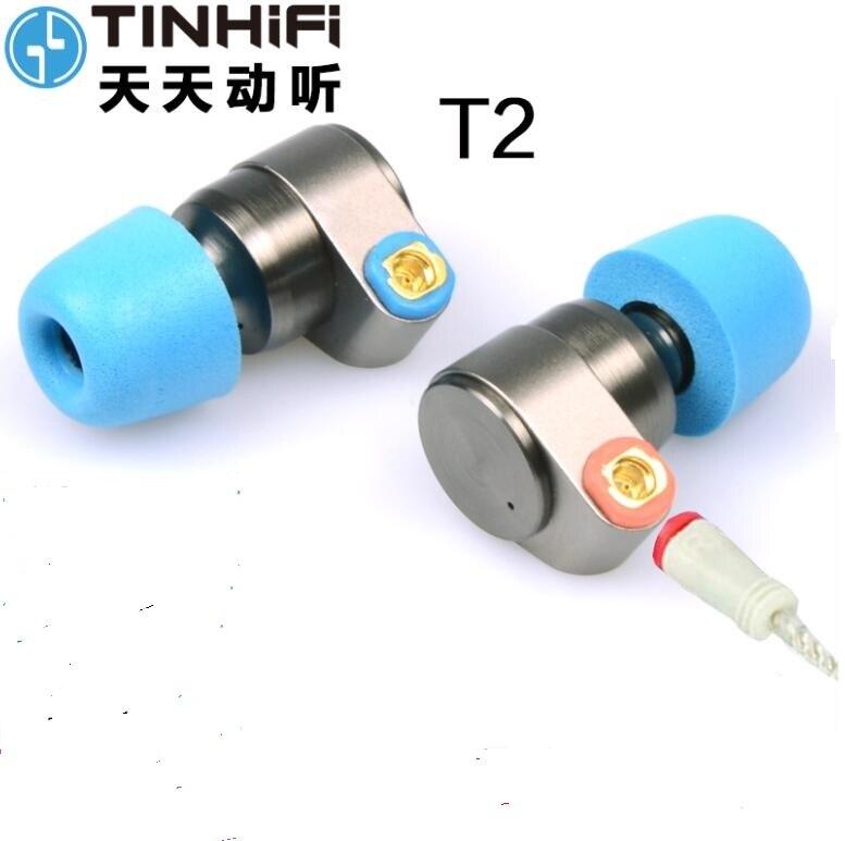 Original TIN Audio T2 3 5mm Earphone Double Dynamic Drive HIFI Earphone Bass DJ Metal IN