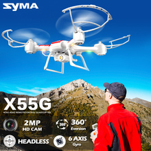 SYMA X55G(X55C X55 Upgrade) RC Quadcopter Drone with HD Camera 4CH Remote Control Helicopter with Headless 3D Flip UAV