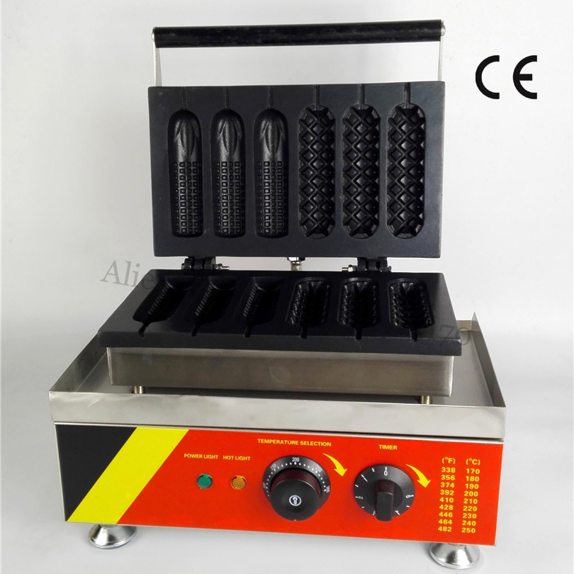 Electric Lolly Hot Dog Waffle Machine Three Hotdog Waffle Stick and Three Corn Type for Snacks Bar Restaurants Coffee House 1 cutting blade holder for graphtec cb09 silhouette cameo holder 15pcs blades vinyl cutter plotter 30 45 60 degree