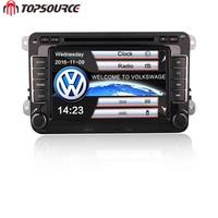 TOPSOURCE 2 Din 7 Inch Auto Dvd Speler Passat POLO GOLF Seat Leon Met GPS Navigatie