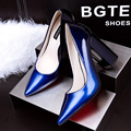 Shoes woman high-heel mature women pumps leather sexy square heel women pointed toe heels high quality shoes women brand