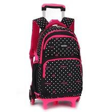 kids removable schoolbags for teenager orthopedic travel bookbags children trolley wheels backpack girls trolley satchel mochila стоимость