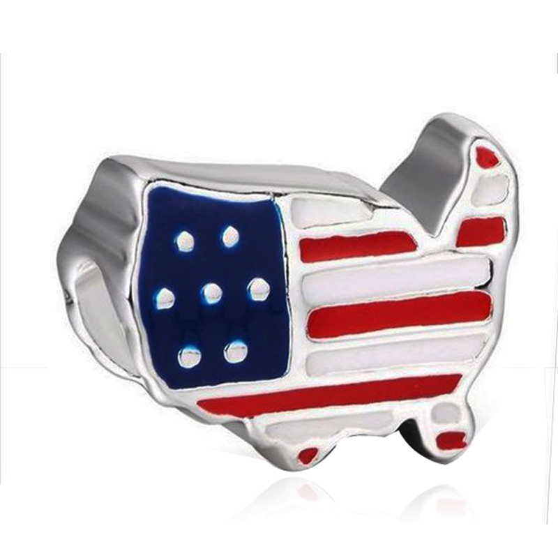 Envío libre agujero grande esmalte ee.uu. América bandera Mapas ...