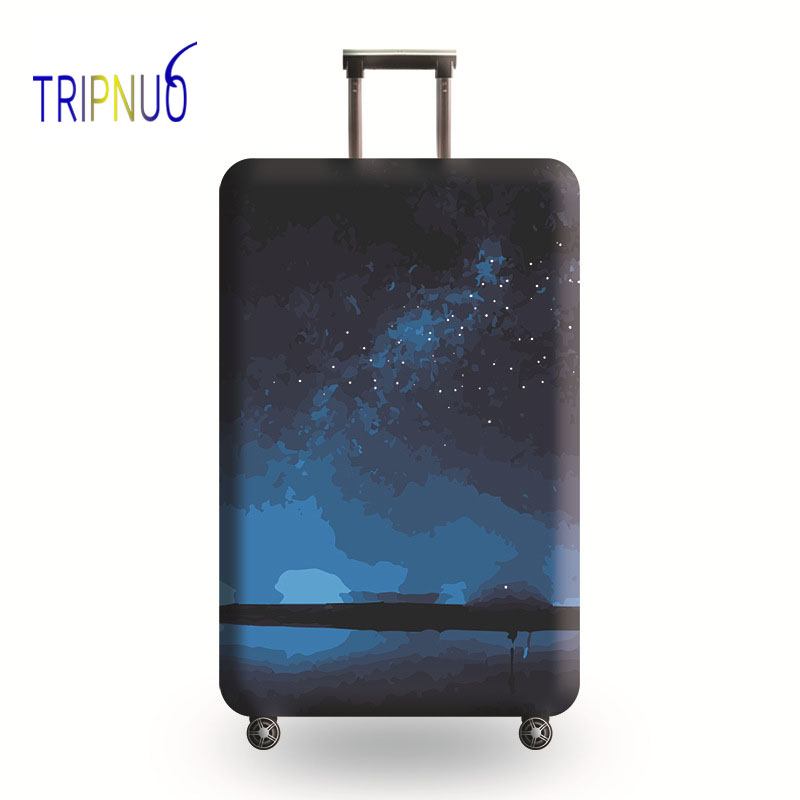 TRIPNUO Universe Luggage Protective Cover For 19-32'' Trolley Thickest Elastic Suitcase Protect Bag Case Travel Accessories