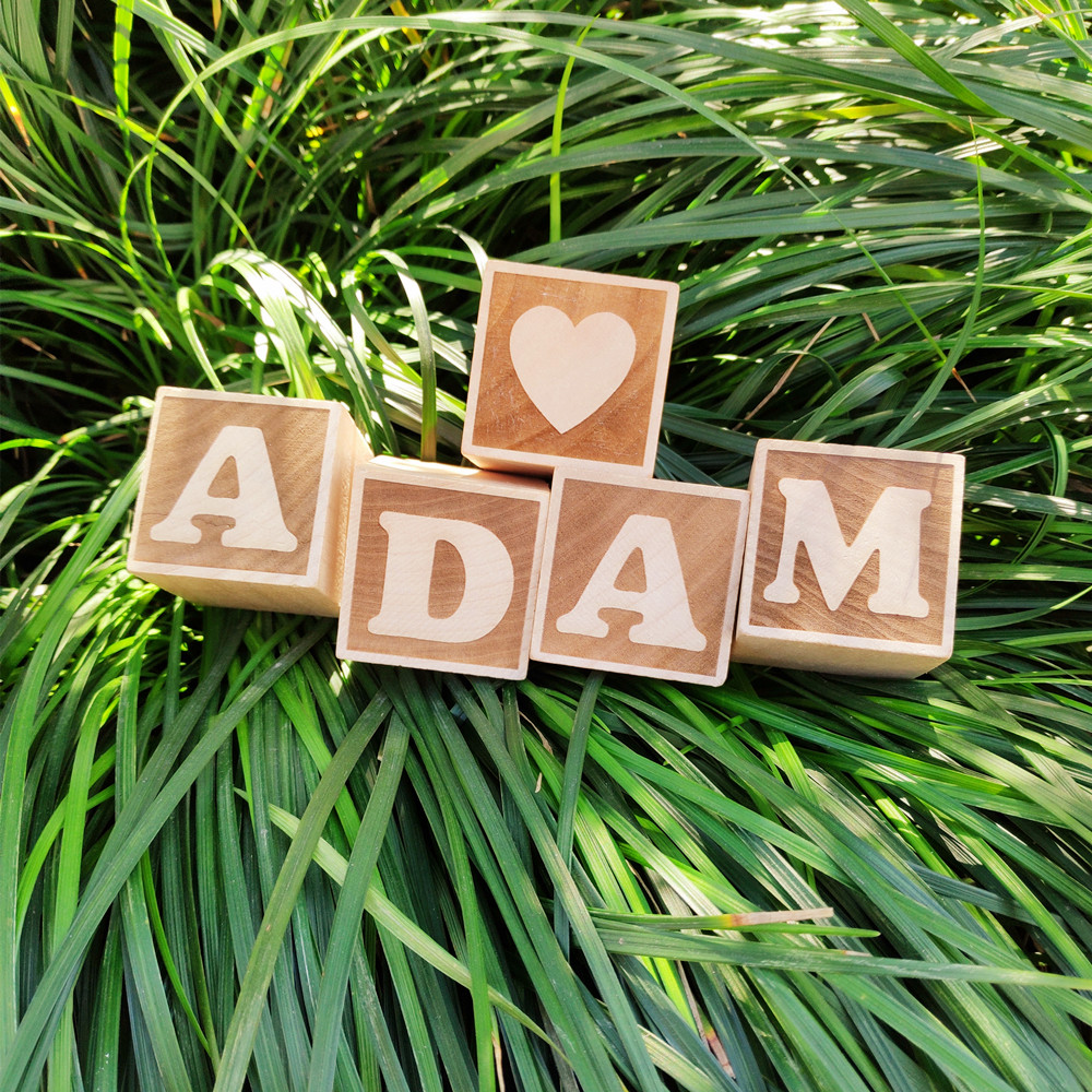 1pcs Baby Name Blocks Wooden Letter Number Heart Crown Blocks Baby Photo Prop Wood Blocks Toys Baby Christmas  Baby Shower Gift