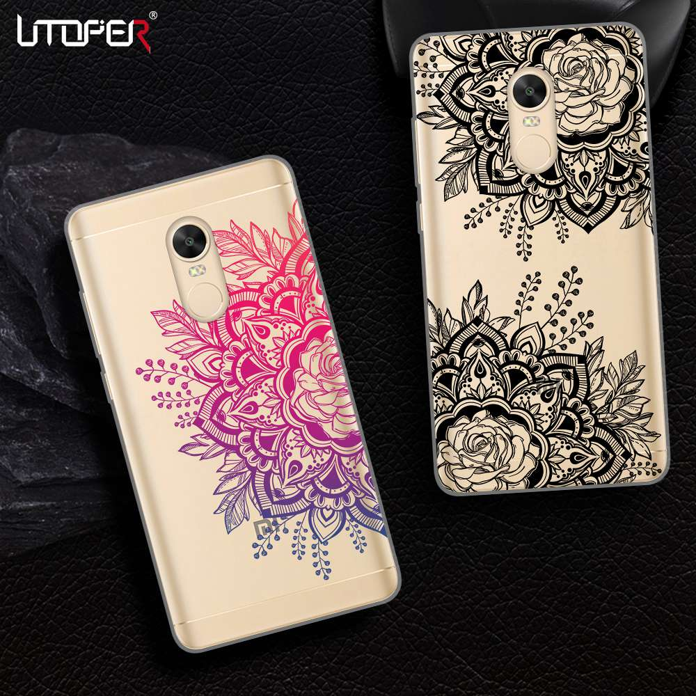 UTOPER Flower Phone Cases For Xiaomi Redmi 5 Plus Case Silicone Cover For Xiomi Redmi 4X Case For Redmi 3s 4 4a Pro Prime Note 5