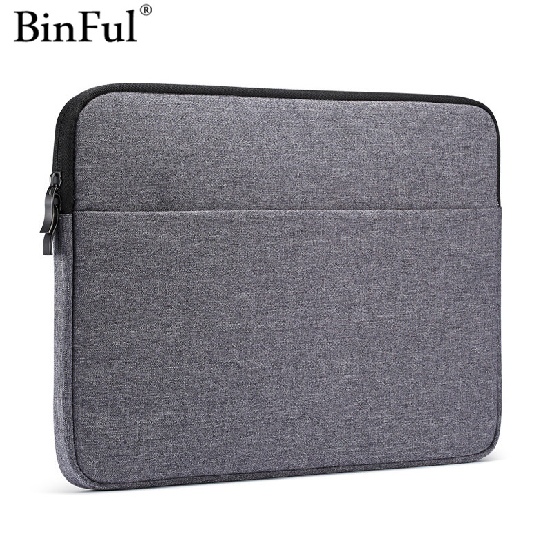 Binful For Macbook 11 12 13 15 inch, 15.6'' Nylon Laptop Bag Sleeve Pouch for Apple Mac book Air Pro Retina 13.3 15.4 Touch Bar image