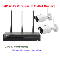 English Firmware Original Dahua 3MP WiFi IP Network Surveillance Camera Kit 2pcs Outdoor Wireless Cameras 1pcs