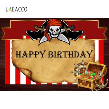 Pirate Baby Birthday Party Treasure Ship Coins Poster Portrait Photography Backdrops Photo Backgrounds Photocall Photo Studio laeacco pink unicorn birthday party star baby poster portrait photographic backgrounds photo backdrops photocall photo studio