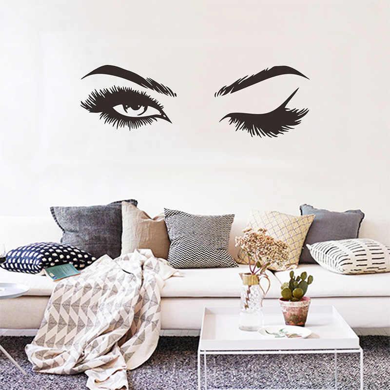 Yaratıcı Pretty kirpik duvar Sticker kız odası oturma odası süslemeleri için ev duvar kağıdı duvar çıkartmaları sanat seksi çıkartmaları