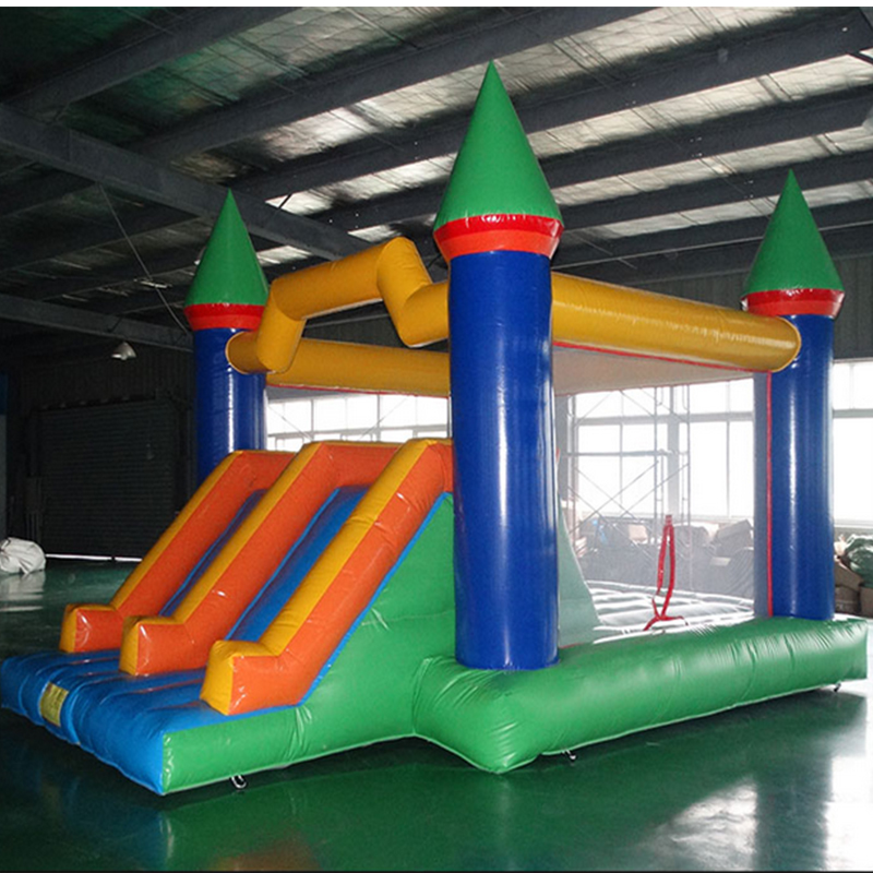 PVC Commercial Inflatable Slides  Inflatable Bounce Castle With Slide For Sale