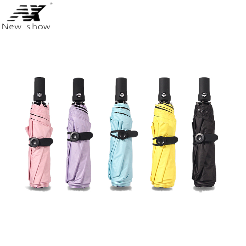 NX Payung automatik Umbrella wanita Payung sepenuhnya automatik Anti UV Parasol Ultra-light Tiga payung lipatan UV