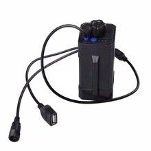 Новый Водонепроницаемый 18650 батареи box дело для велосипедов свет велосипеда лампы power bank box для телефонов с DC USB Двойных портов Бесплатная доставка