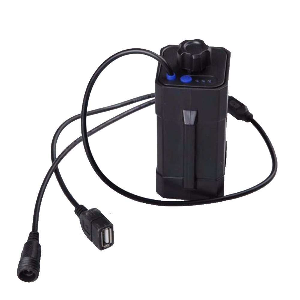 Nueva Prueba de Agua 18650 caja de la batería para bicicleta de luz de lámpara d