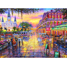 "Full Diamond Square/Round Drill 5D DIY Diamond Painting ""Coloured London"" Diamond Embroidered Cross-stitch Rhinestone Mosaic(China)"