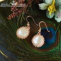 Ювелирные изделия из чистого натурального жемчуга, серьги капли из пресноводного барокко, серьги капли, Жемчуг 5 K, золото, ювелирные украшен