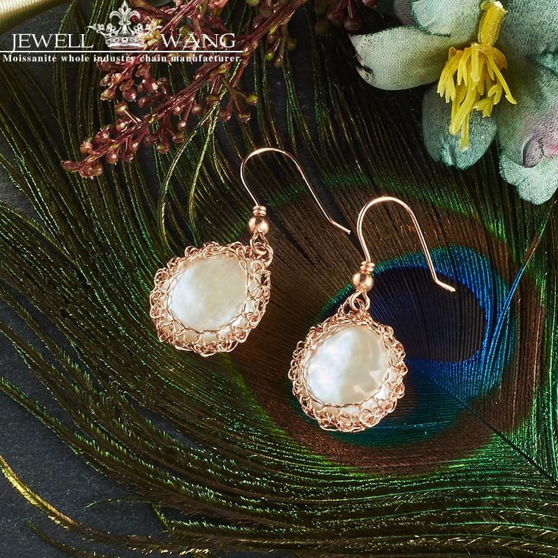 JEWELLWANG Pure Natural Pearl Drop Earrings Freshwater Baroque Drop Earrings Pearl 5K Gold Fine Jewelry Gift for Women Classic faux pearl layered hoop drop earrings
