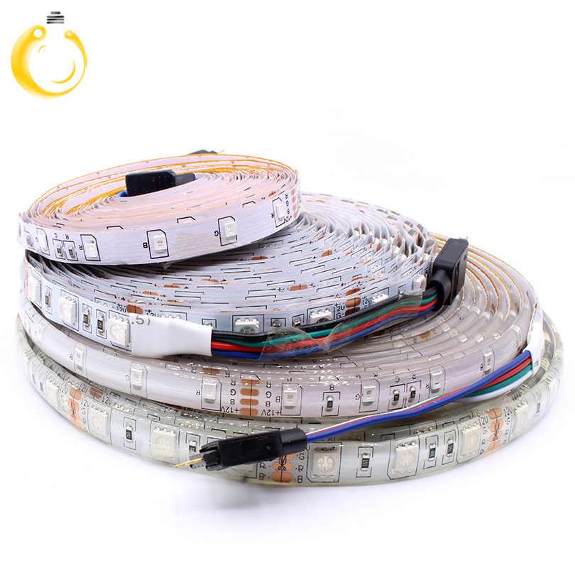 Taśma LED Light DC 12V RGB SMD 2835 5050 44Key Power Remote 5M 10M pełny zestaw elastyczna dioda taśma wstążkowa wodoodporne oświetlenie