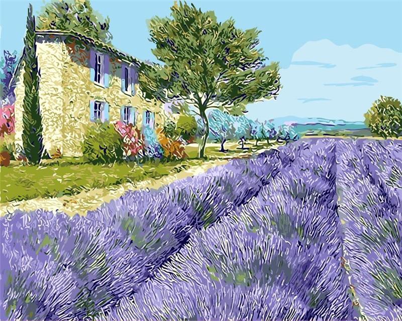 Handwork, Living, Lavender, Draw, Flower, Art