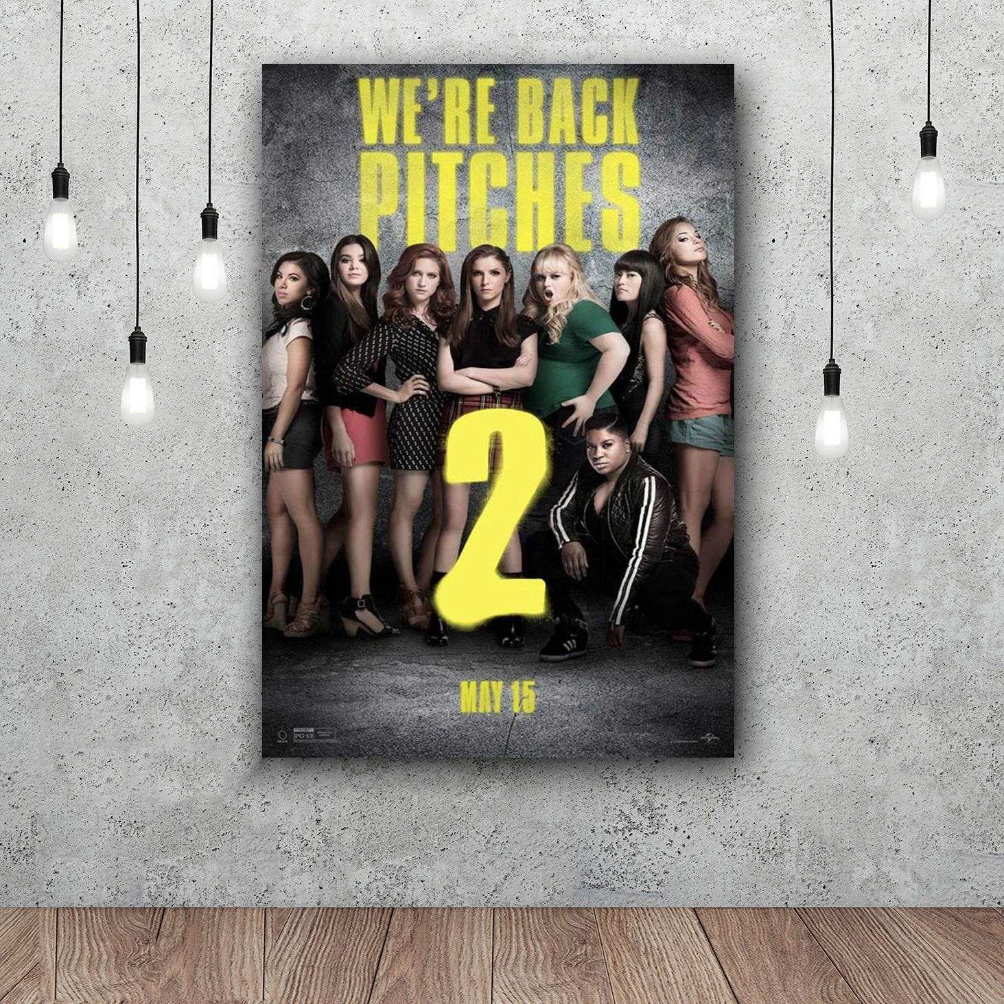 Pitch Perfect Three Movie Art Silk Poster Home Decor 12x18 24x36inch