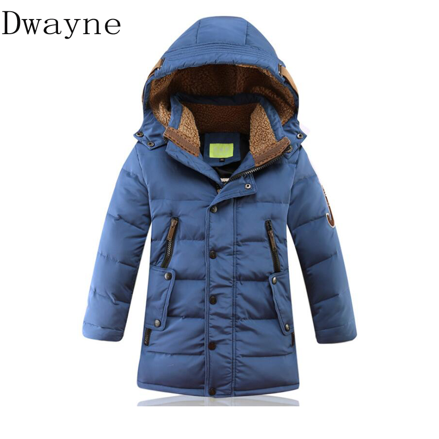-30 degree Boys Winter Jackets Duck Down Jacket Coat Kids Clothing Thickening Outerwear Big Boys Winter Warm Down Coat Christmas