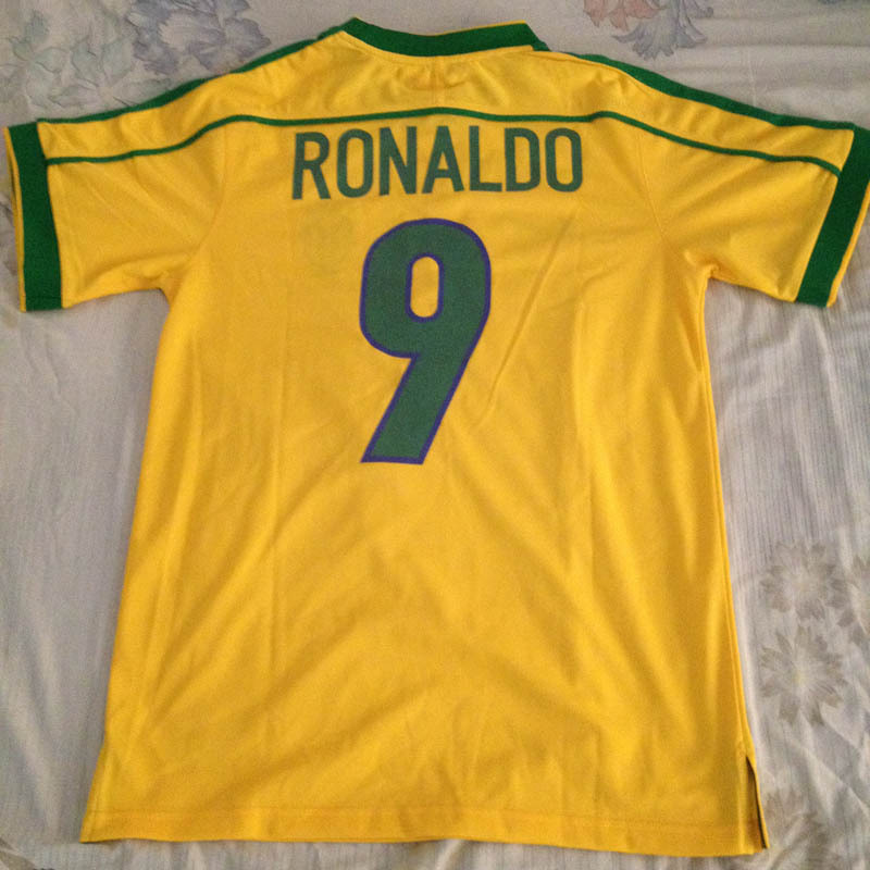 free shipping eb11a f139f 1998 World Cup Brazil home jersey High quality football Fans ...