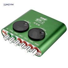 Kx-2 2RCA звуковая карта USB аудио Интерфейс USB адаптер Динамик микрофон для портативных компьютеров внешняя звуковая карта сети
