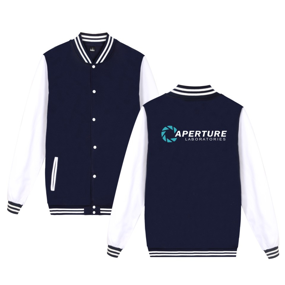 Two Step Aperture Science Games Jacket Mens Clothing Print Aperture Laboratories Baseball Uniform