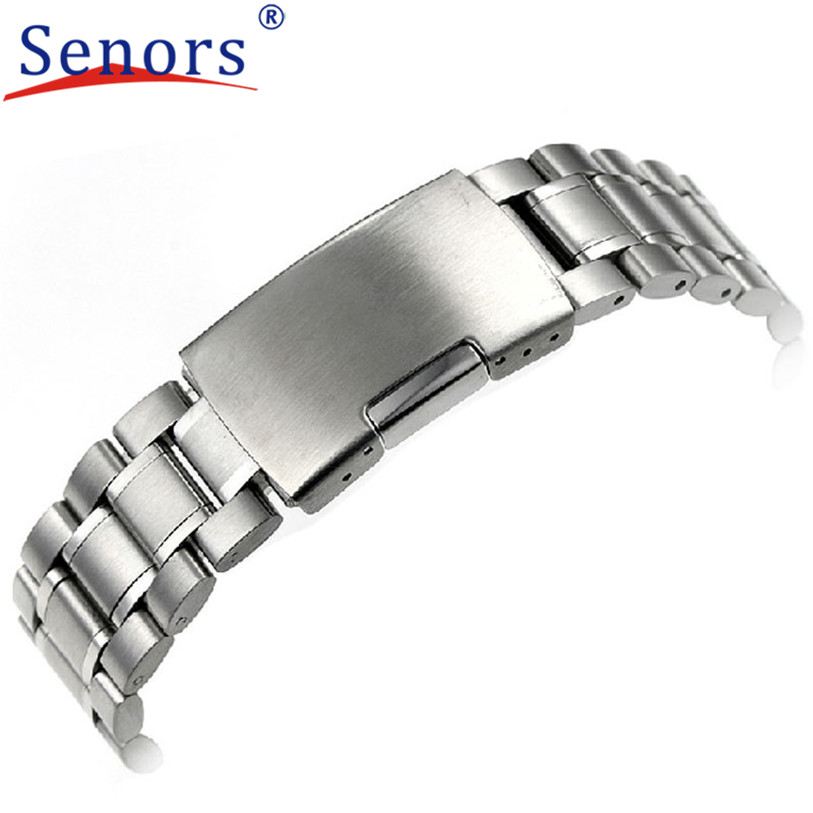 Hot Selling24mm Stainless Steel Bracelet Watch Band Strap Straight End Solid Links JAN19Levert Dropship hot selling stainless steel watch women