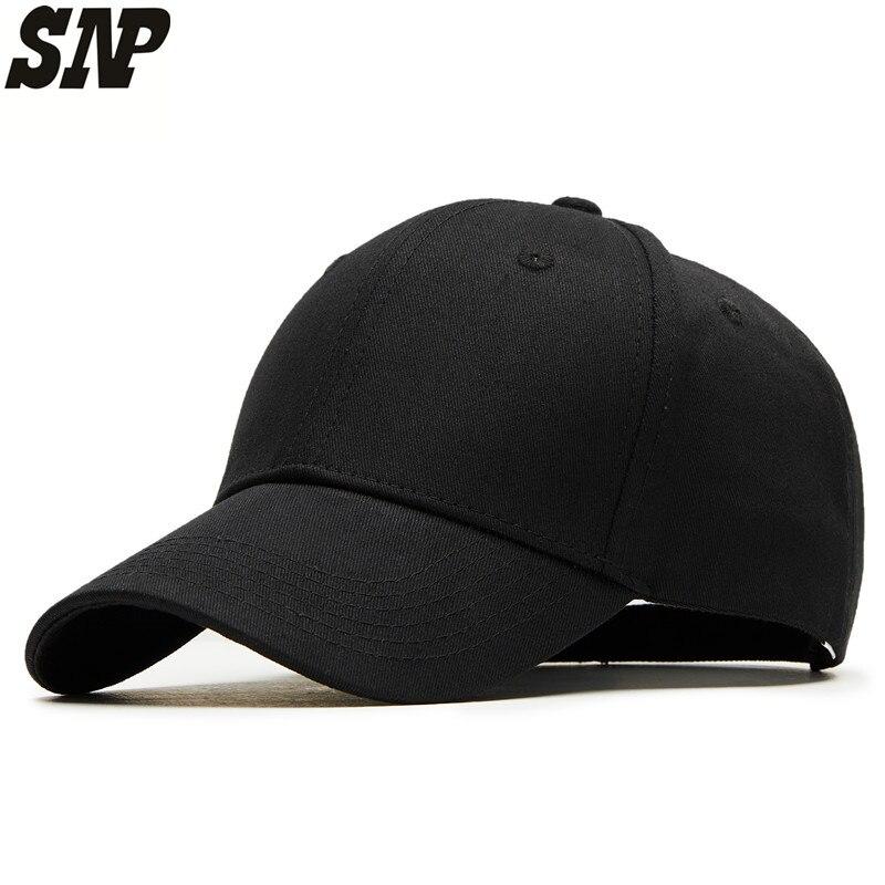 Snapback noir casquette de baseball hommes casquette de baseball femmes os de papa chapeaux Occasionnels mâle casquette de baseball pour hommes d'été réglable solide chapeau