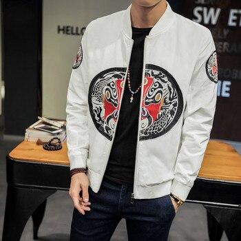 Chinese Style Bomber Jacket Men Plus Size 5XL Pilot Jackets Men's Windbreakers Man College Jacket Hommes Coats Baseball Uniform