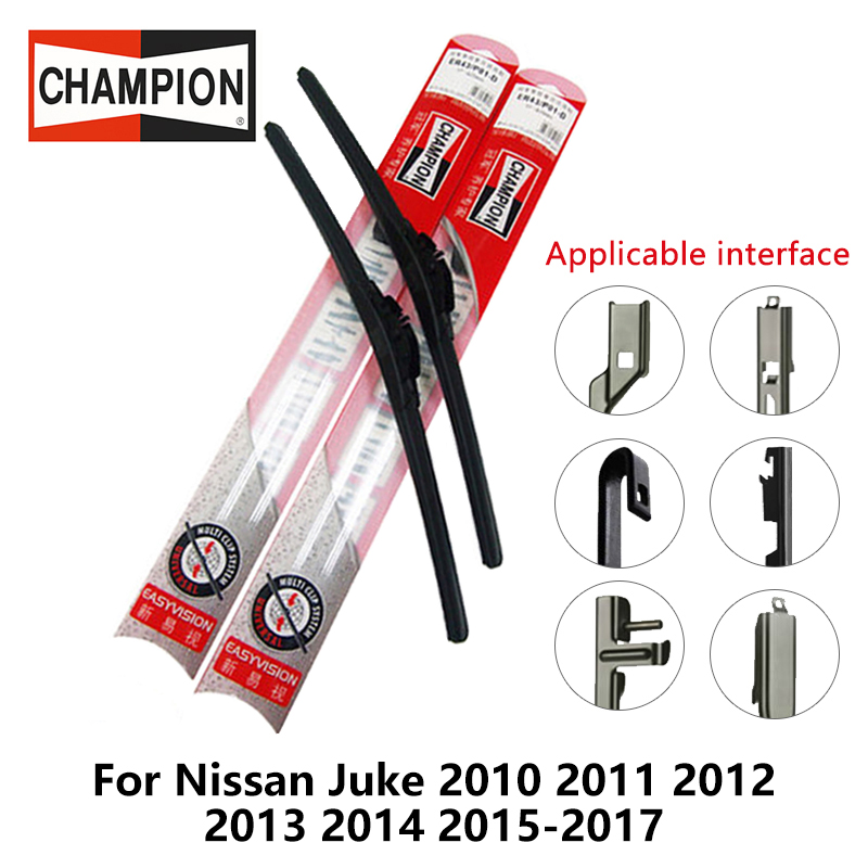 2pieces/set Champion EasyVision Compound Wiper Blades for Nissan Juke 2010 2011 2012 2013 2014 2015-2017 22&14 Fit Hook Arms