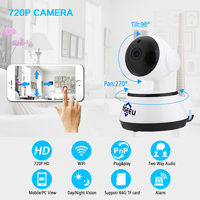 Hiseeu HSY FH2E HD 720P 1 4 CMOS Surveillance Camera WiFi IR Rotary Head Motion Detection