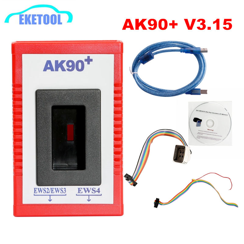 AK90 Auto Key Programmer Newest Version V3.19 For <font><b>BMW</b></font> EWS <font><b>CAS</b></font> AK90+Programmer Tool Fits <font><b>BMW</b></font> Programming Adapter image