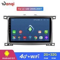 4G Lte All Netcom 2G RAM 32G ROM Car Radio player for Toyota Land cruiser 100 GX LC 100 Stereo Radio Navigation