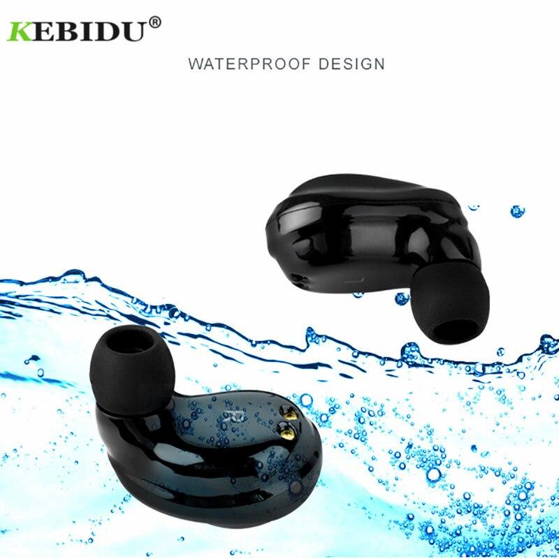 Kebidu Bluetooth Touch Control Hifi Earphone with Mic ROCKSPACE EB30 TWS Wireless Earbuds Stereo Microphone for xiaomi samsung rockspace eb30
