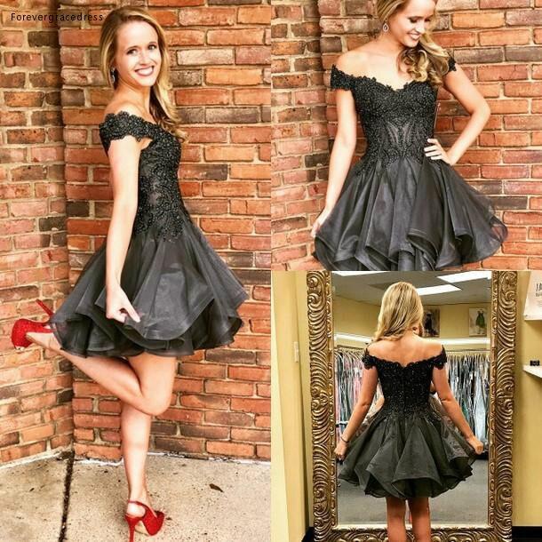 2019 Cheap Short Homecoming Dress A Line Tier Ruffles Skirt Juniors Sweet 15 Graduation Cocktail Party Dress Plus Size