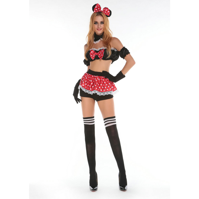 New Arrival Super Cute Darling Mouse Halloween Costume Adult Animal Sexy Fancy Dress for Women  sc 1 st  AliExpress.com & New Arrival Super Cute Darling Mouse Halloween Costume Adult Animal ...