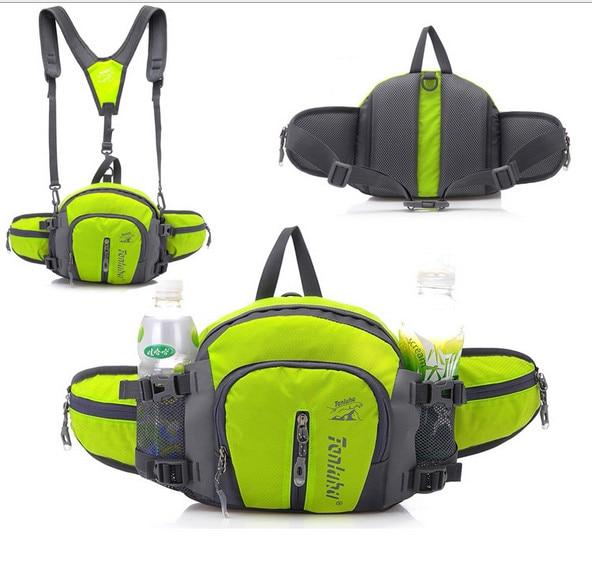 TANLUHU 322 Wasserdichte Nylon Sporttasche Outdoor Klettern Wandern Rucksack Unisex Hüfttasche Reisetasche Handtasche