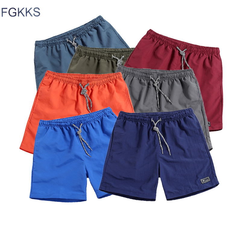 FGKKS Men Solid Color Shorts 2018 Spring Summer Male Patchwork Joggers Short Sweatpants Trousers Men Shorts Roupa Masculina