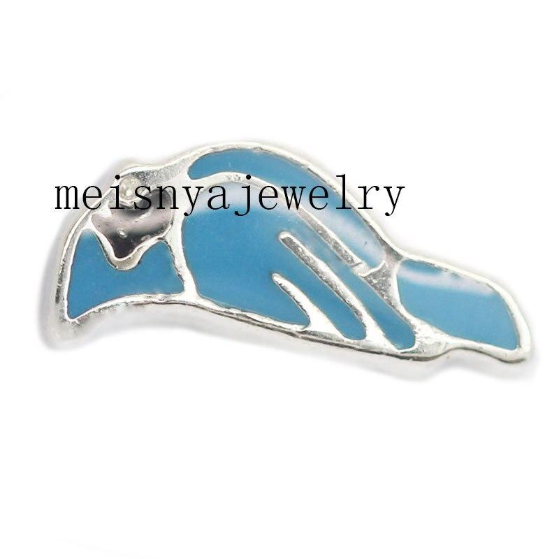 10 unids pájaro azul encantos flotantes para el Locket de cristal cantidad  mínima  15 por los artículos mezclados Orden 038ee9d1abe5
