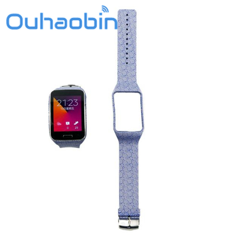 Ouhaobin Replacement Watch Wrist Strap Wristband for Samsung Galaxy Gear S R750 Oct 4 Dropship