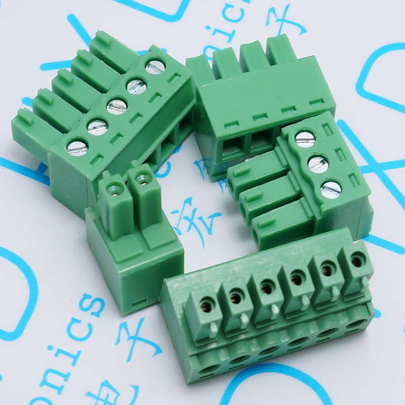 200ชิ้น/ล็อต15E DG 3.81ลวดขั้วKF2EDGK 3.81มิลลิเมตร2จุด/3/4/5/6/7/8จุดหลุมซ็อกเก็ตขาตรงเข็มสำหรับขาย