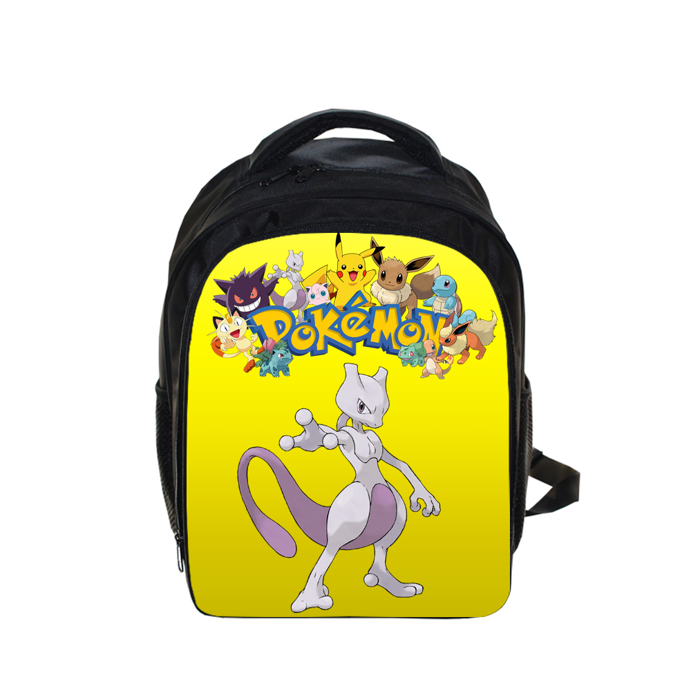 Cool Japanese Anime Pokemon Mewtwo Backpack Children