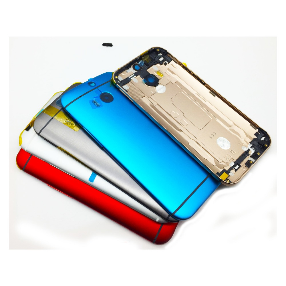 New Original Metal Back Cover Housing For <font><b>HTC</b></font> One <font><b>M8</b></font> Rear Housing Back <font><b>Battery</b></font> Cover Door <font><b>Case</b></font> With Power Volume Button Key image