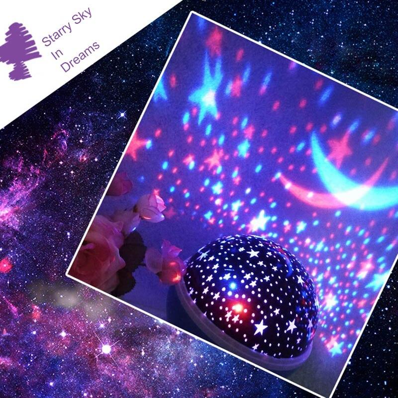 novidade led girando estrela projetor iluminacao lua 04