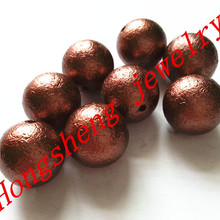 (choose size) 12mm/16mm/20mm brown color acrylic wrinkles pe